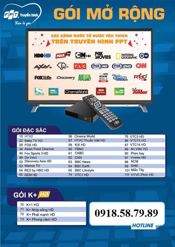 Gói kênh mở rộng truyền hình fpt