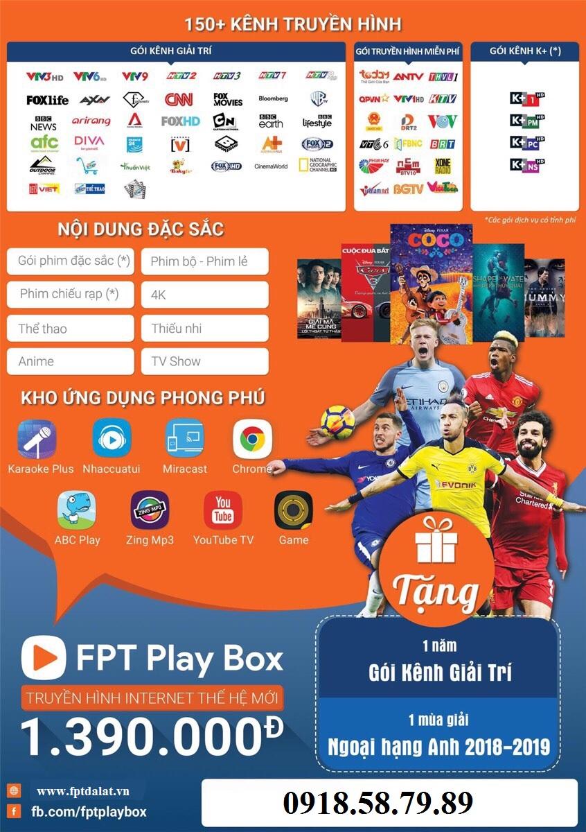 các kênh truyền hình fpt play box