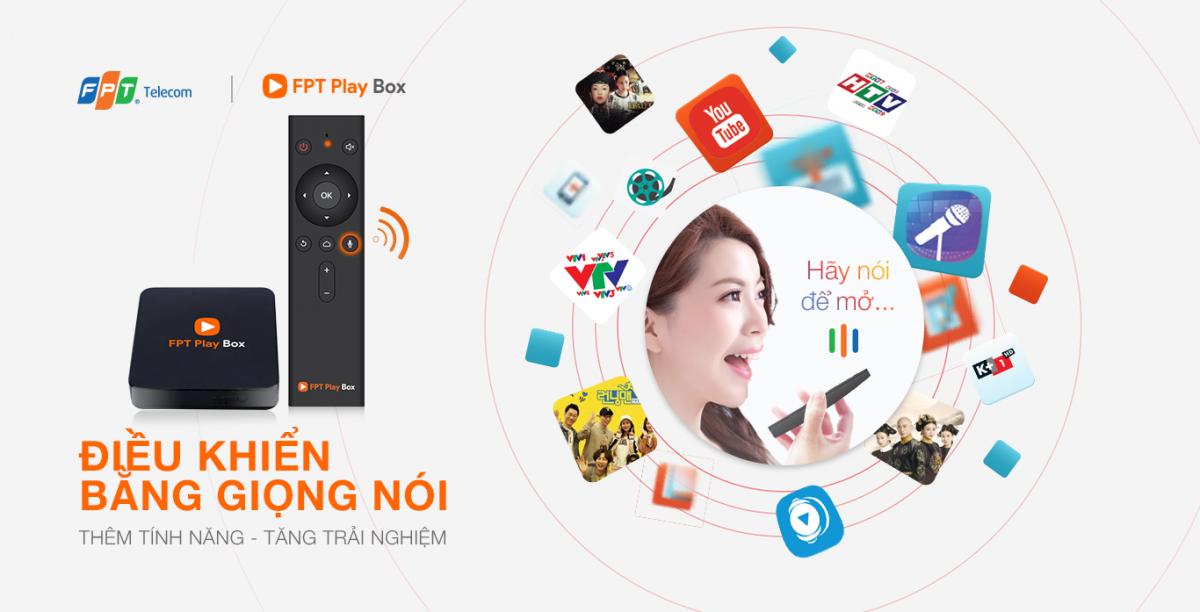 fpt play box đà lạt điểu khiển giọng nói qua các ứng dụng